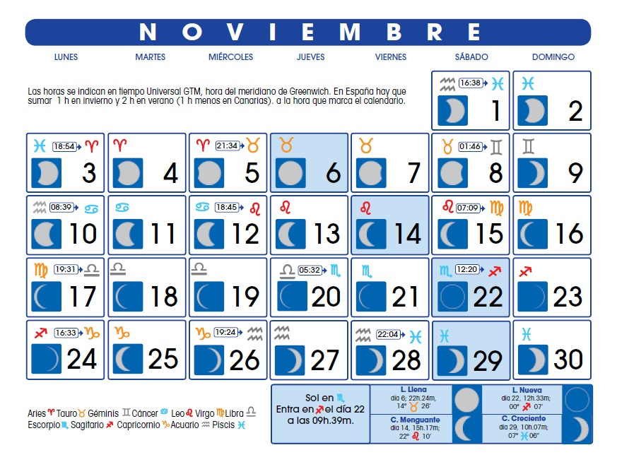 Grandes monta as 2014 calendario lunar noviembre 2014 for Calendario de luna creciente 2016