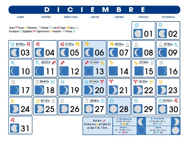Calendario luna creciente 2016 for Calendario de luna creciente 2016